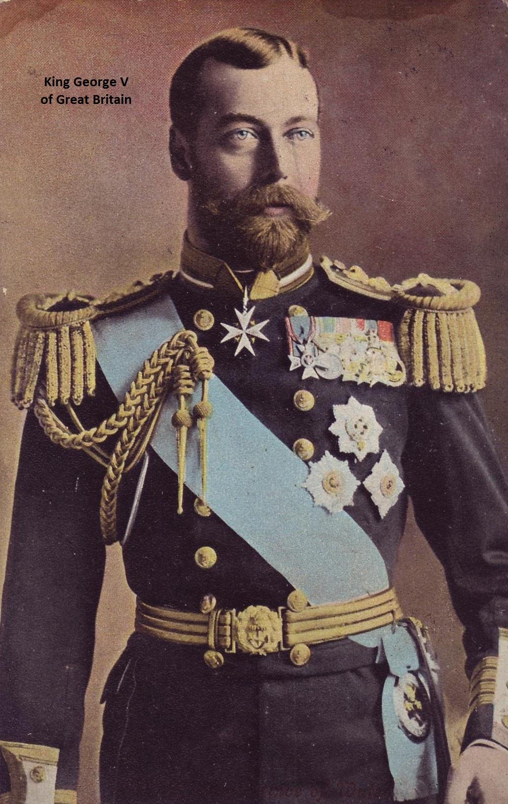 Csar look-a-like, King George V