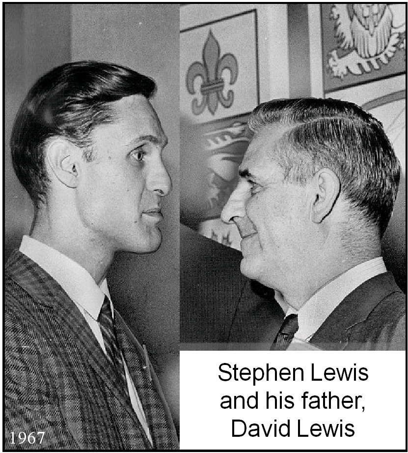 Stephen Lewis and his father, David Lewis