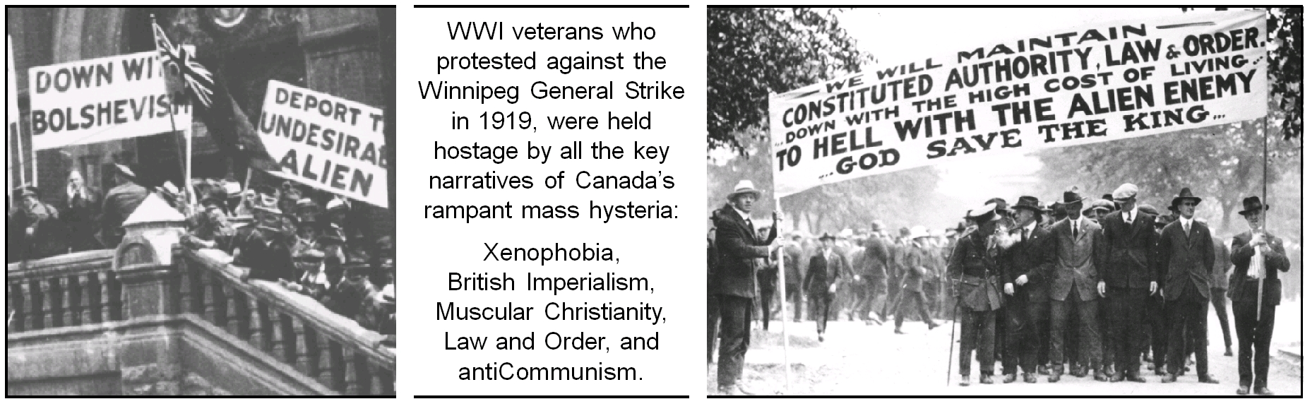 WWI veterans protesting the Winnipeg General Strike