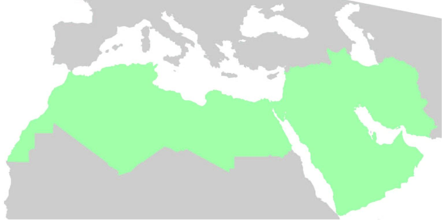 middle east north africa map vector